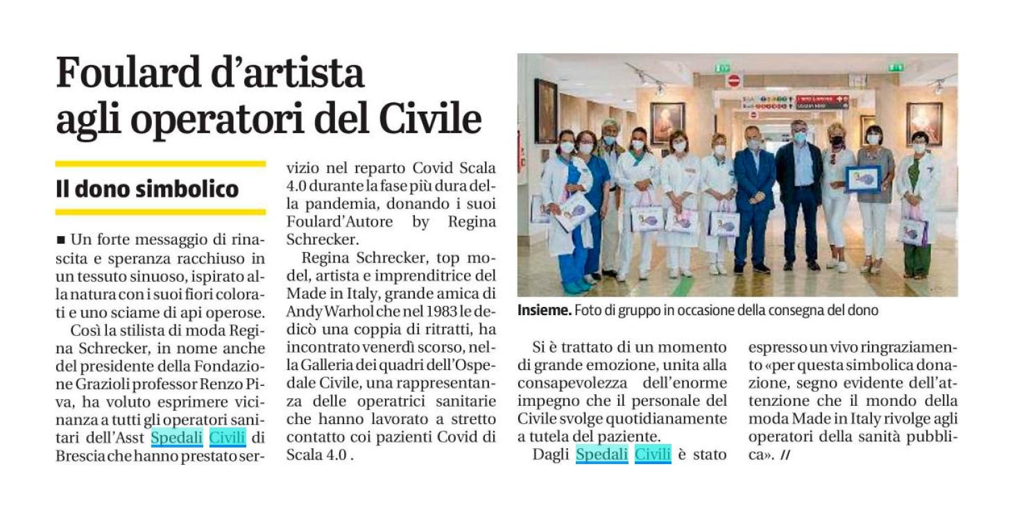 Giornale di Brescia - Foulard d'Artista